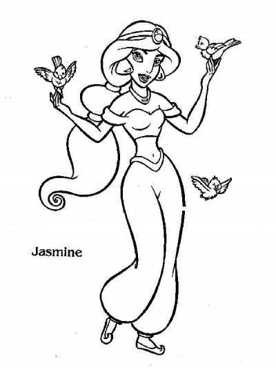 T l charger coloriage aladdin et jasmin gratuit imprimer - Coloriage de jasmine et aladin ...