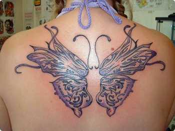 Modèle dessin de tatouage papillon